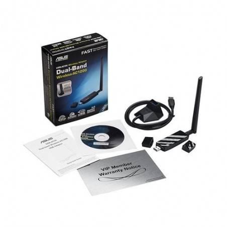 ASUS USB-AC56 Wireless USB Adapter มาตรฐาน AC แบบ Dual-Band 2.4/5 GHz ความเร็วสูงสุด 450/867Mbps