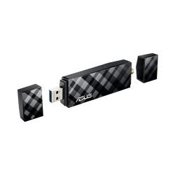 ASUS USB-AC56 Wireless USB Adapter มาตรฐาน AC แบบ Dual-Band 2.4/5 GHz ความเร็วสูงสุด 450/867Mbps  ASUS