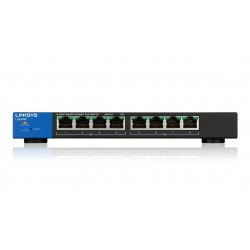Linksys LGS308P L2-Managed Gigabit POE Switch 8 Port รองรับ VLANs, Link Aggregation ควบคุมผ่าน WebView