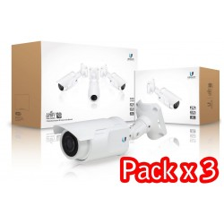 Ubiquiti Unifi Video Camera (UVC) Pack 3 ชุด กล้อง IP Camera มาตรฐาน H.264 720p HD, IR LED Night Mode, POE ในชุด Ubiquiti (ยู...