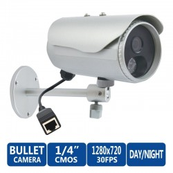 ACTi Bullet IP-Camera D31 ความละเอียด 1MP Outdoor Censor CMOS รองรับ Day/Night IR, Fixed Lens ACTi (แอคตี้)