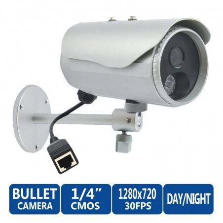 ACTi Bullet IP-Camera D31 ความละเอียด 1MP Outdoor Censor CMOS รองรับ Day/Night IR, Fixed Lens