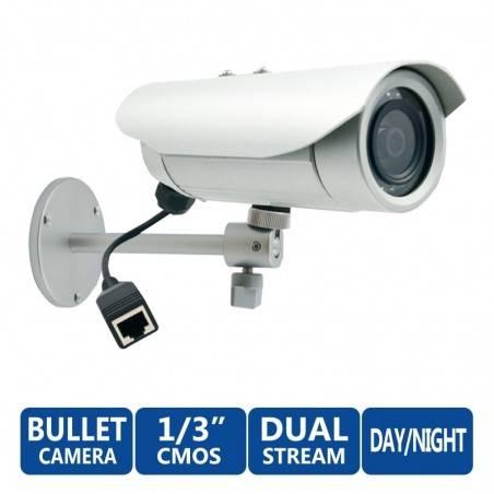 ACTi IP-Camera Bullet E34 ความละเอียด 3MP แบบภายนอกอาคาร รองรับ Day/Night f3.6 Fixed Lens