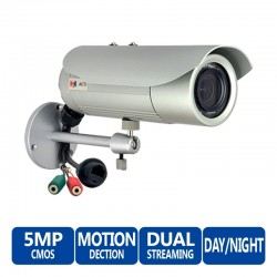 ACTi Bullet E43B 5MP Day/Night Indoor/Outdoor IP-Camera with Varifocal Lens