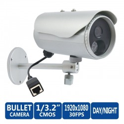 ACTi Bullet D32 3MP Day/Night, Adaptive IR, Fixed lens, f4.2mm/F1.8, H.264, 1080p/30fps, DNR, IP66