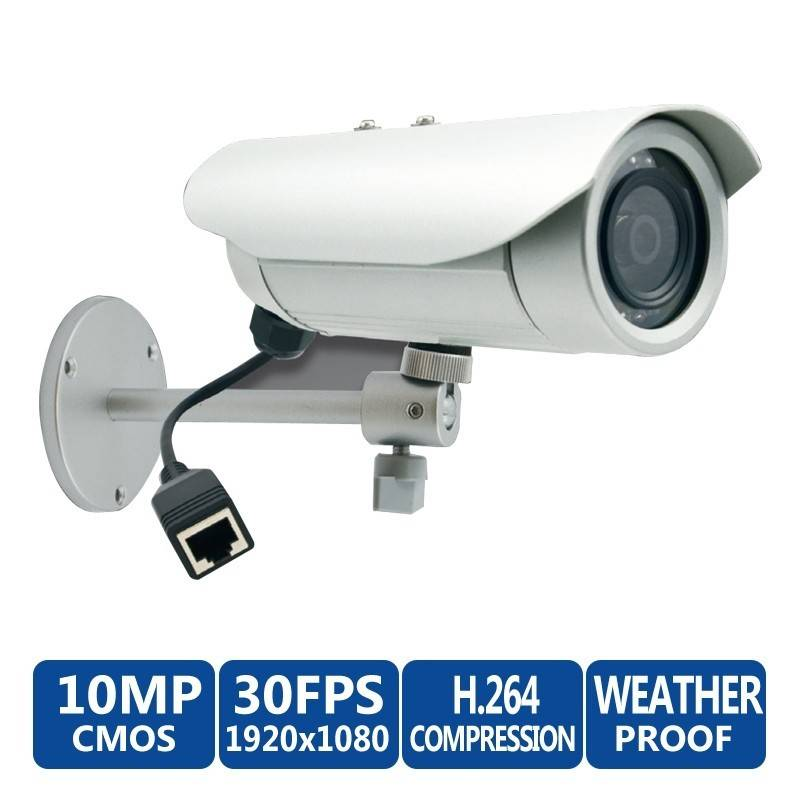 ACTi Bullet E37 10MP Day/Night IP Weatherproof & Vandal-Proof  with Adaptive IR LEDs & 3.6mm Fixed Lens