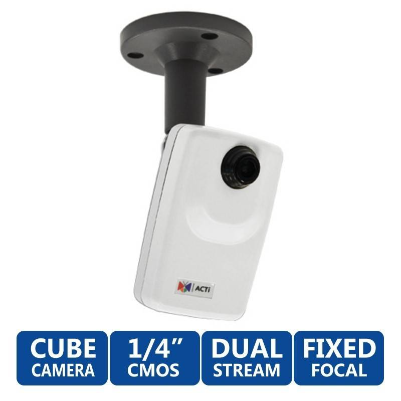 ACTi ACTi (แอคตี้) ACTi Cube D11 กล้อง IP-Camera แบบ Fixed Lens ภายในอาคาร ความละเอียด 1MP มาตรฐาน H.264 รองรับ POE