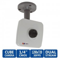 ACTi Cube E11 ความละเอียด 1MP 720P HD มาตรฐาน H.254 Basic WDR - Fixed Lens
