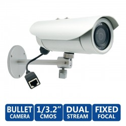 ACTi Bullet E32A ความละเอียด 3MP ภายนอกอาคาร Day/Night Adaptive IR, Dual Media Streams