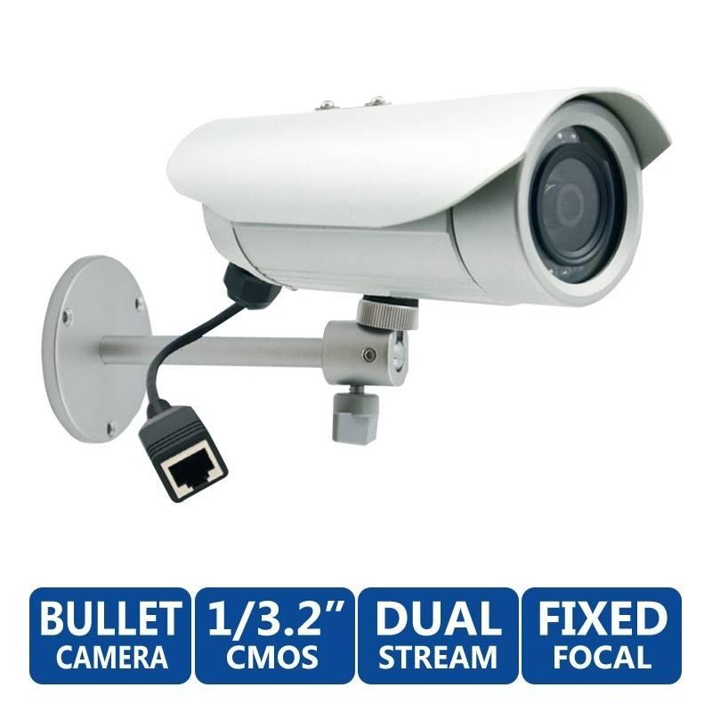 ACTi Bullet E32A ความละเอียด 3MP ภายนอกอาคาร Day/Night Adaptive IR, Dual Media Streams ACTi (แอคตี้)