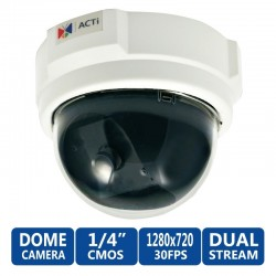 ACTi ACTi (แอคตี้) ACTi Dome D51 1MP Indoor Camera, Fixed Lens รองรับ POE