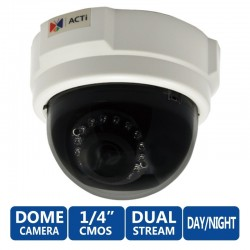 ACTi ACTi (แอคตี้) ACTi Dome E52 1MP Indoor Day/Night Adaptive IR Camera, Fixed Lens