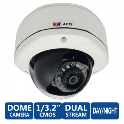 ACTi Dome E72 Outdoor ความละเอียด 3MP 1080p/30fps Day/Night Basic WDR, MicroSD, รองรับ PoE
