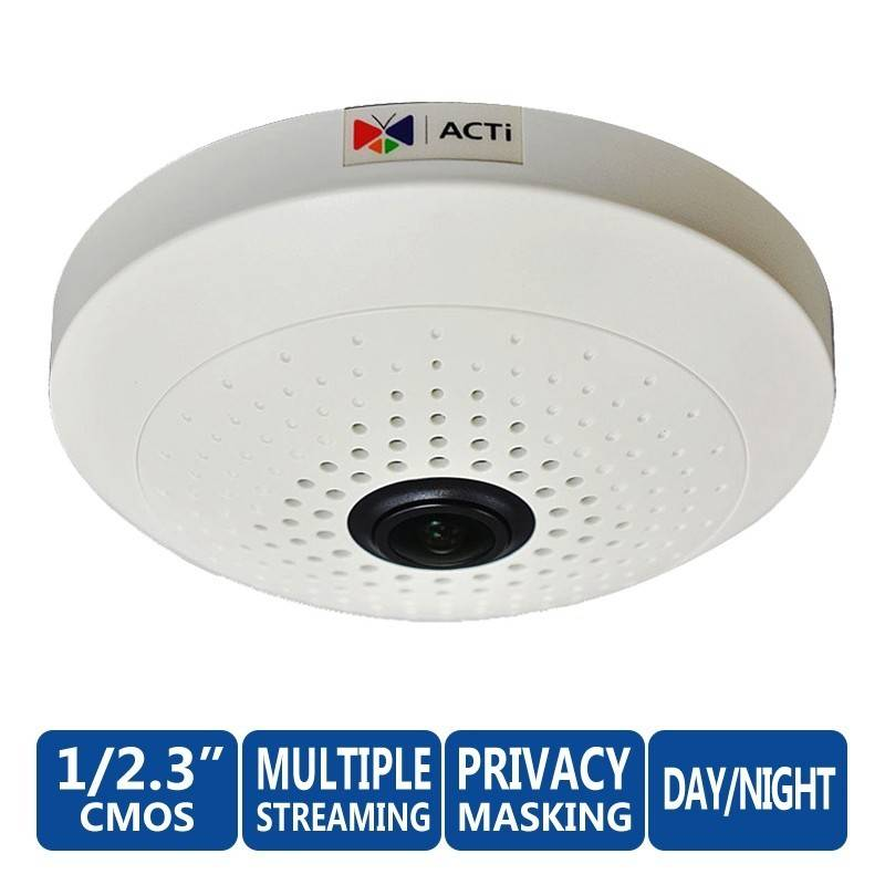 ACTi ACTi B55 10Mp Indoor Day/Night Basic WDR Fixed Focus Fisheye Lens มุมอง 360 องศา