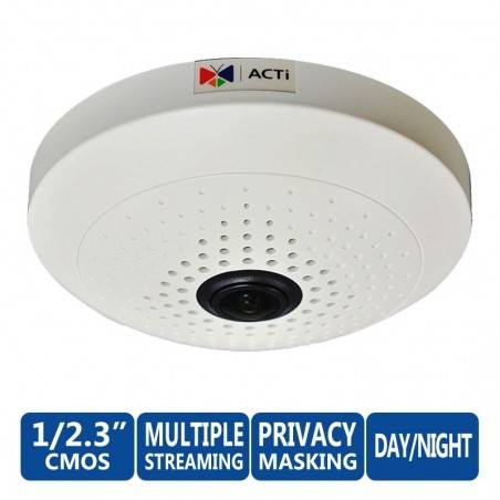 ACTi B55 10Mp Indoor Day/Night Basic WDR Fixed Focus Fisheye Lens มุมอง 360 องศา