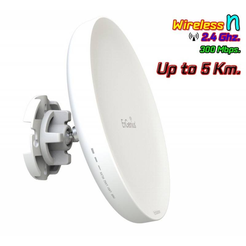 Engenius EnStation2 Access Point ความถี่ 2.4GHz ความเร็ว 300Mbps สำหรับเชื่อมต่อแบบ PTP
