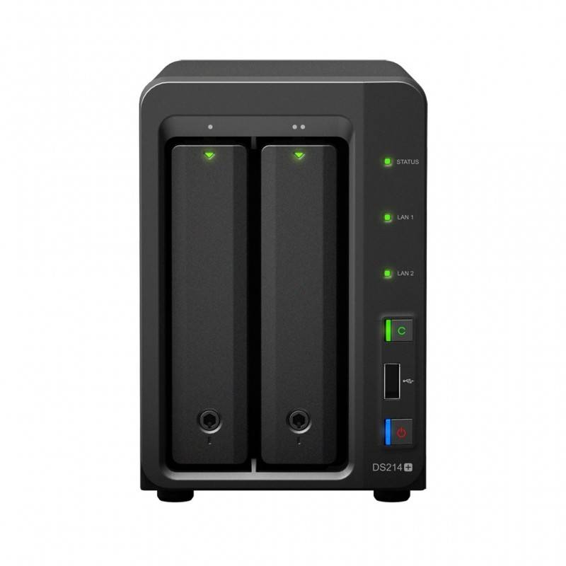 Synology DS214+ Network Attatch Storage ขนาด 2Bay 16TB (8TB X 2) รองรับ Media Streaming, iTune Server, Load Bit