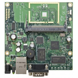 Mikrotik RouterBoard RB411AH RouterOS Level 4, CPU 680MHz Ram 64MB, 1 Serial Port, 1MiniPCI slots Mikrotik Board (เฉพาะบอร์ด)