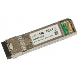 Mikrotik S+85DLC03D SFP+ transceiver เชื่อมต่อกับ Fiber Optic แบบ Multimode หัวต่อแบบ LC ระยะทาง 300 เมตร MiniGBIC / SFP Module