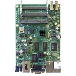 Mikrotik RouterBoard RB433UAH RouterOS LV 5, CPU 680MHz Ram 128MB, 1Serial Port, 3MiniPCI slots, 2 USB Mikrotik Board (เฉพาะบ...