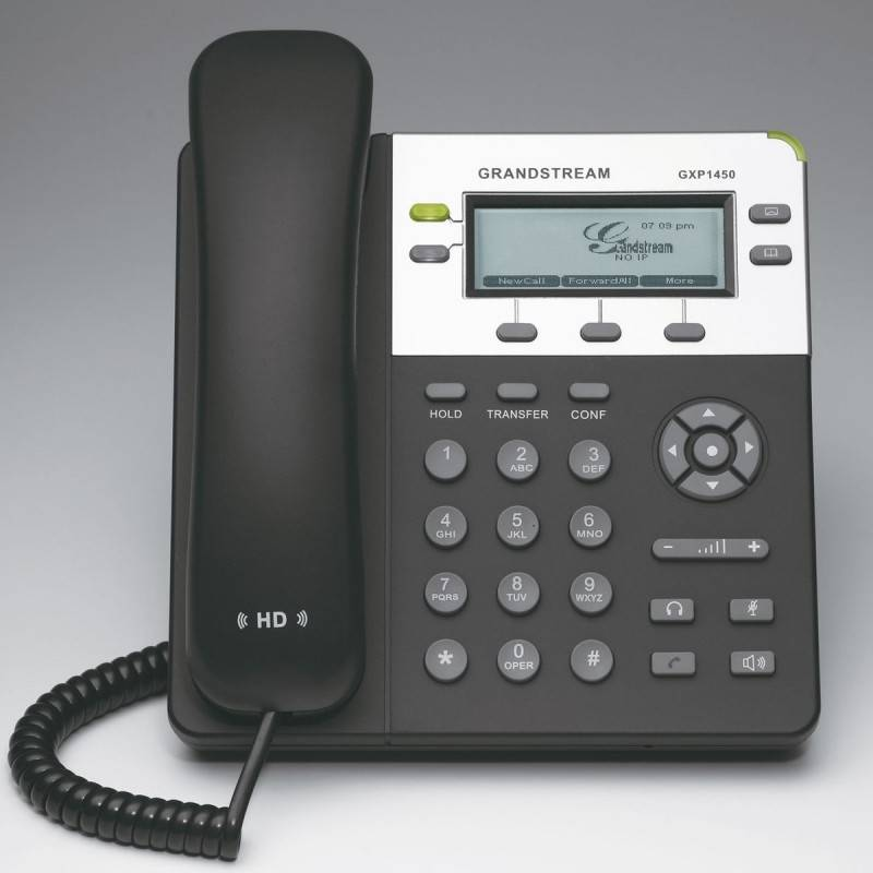 GrandStream GXP-1450 IP-Phone 2 คู่สาย 2 Port Lan, HD Audio, LCD Color, 3-Way Conference, PoE VOIP / IP-PBX ระบบโทรศัพท์แบบ IP