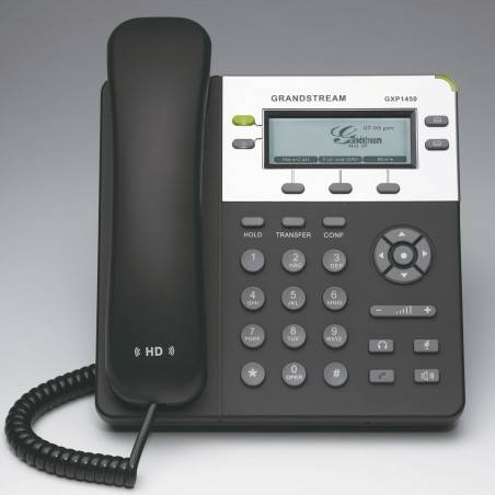 GrandStream GXP-1450 IP-Phone 2 คู่สาย 2 Port Lan, HD Audio, LCD Color, 3-Way Conference, PoE