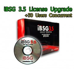 iBSG 3.5 License Upgrade-50 เพิ่ม Users อีก 50 Users Concurrent สำหรับ iBSG Software และ The Box ระบบ Hotspot จัดเก็บ Log