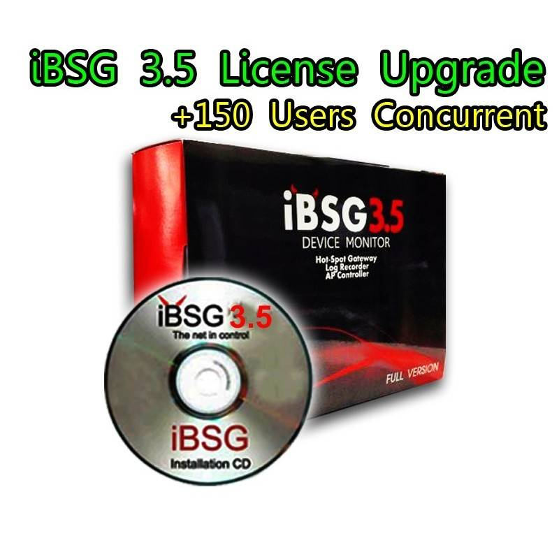 iBSG 3.5 License Upgrade-150 เพิ่ม Users อีก 150 Users Concurrent สำหรับ iBSG Software และ The Box