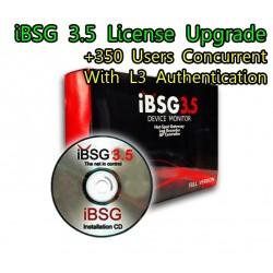 iBSG 3.5 License Upgrade-350 Ent เพิ่ม Users อีก 350 Users Concurrent สำหรับ iBSG Software และ The Box  ระบบ Hotspot จัดเก็บ Log