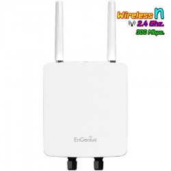 EnGenius Engenius (เอ็นจีเนียส) Engenius ENH220Ext Access Point แบบภายนอกอาคาร ความถี่ 2.4GHz ความเร็ว 300Mbps Port Gigabit
