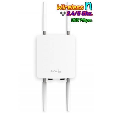 Engenius ENH710EXT Access Point ภายนอกอาคาร ความถี่ 2.4/5 GHz 450Mbps เสา 5dBi x 4 Port Gigabit