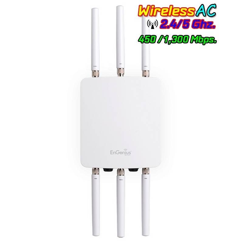 Engenius ENH-1750EXT Access Point ภายนอกอาคารมาตรฐาน ac ความถี่ 2.4/5 GHz 1300Mbps 6 เสา รองรับ Mesh