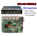 Mikrotik RouterBoard 850Gx2 ROS Lv5 CPU Dual-Core Memory/RAM 512MB Switch Gigabit 5 port พร้อม Case เหล็ก