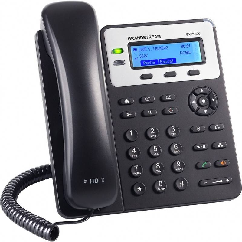 GrandStream GXP-1620 IP-Phone 2 คู่สาย 2 Port Lan, HD Audio, LCD Color, 3-Way Conference VOIP / IP-PBX ระบบโทรศัพท์แบบ IP
