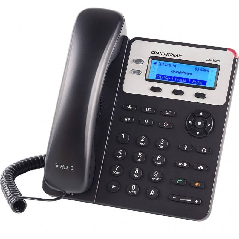 Grandstream VOIP / IP-PBX (ระบบโทรศัพท์แบบ IP) GrandStream GXP-1625 IP-Phone 2 คู่สาย 2 Port Lan, HD Audio, LCD Color, 3-Way ...