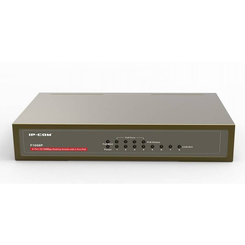 IP-COM F1008P POE Switch ขนาด 8 Port ความเร็ว10/100Mbps จ่ายไฟ POE 802.3af 15.4W x 4 Port