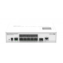 Mikrotik Cloud Router Switch CRS212-1G-10S-1S+IN ROS Lv5, Smart Switch-L3 10 SFP, 1SFP+, 1 Port Gigabit Switches เชื่อมเครือข...