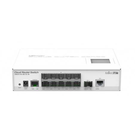 Mikrotik Cloud Router Switch CRS212-1G-10S-1S+IN ROS Lv5, Smart Switch-L3 10 SFP, 1SFP+, 1 Port Gigabit