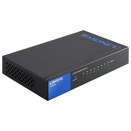 Linksys LGS108 Gigabit Switch 8 Port แบบ Desktop ความเร็ว 10/100/1000 Mbps เคสเหล็ก