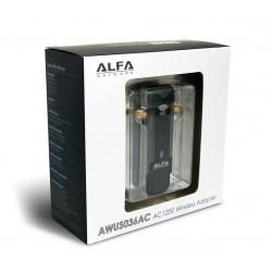 ALFA AWUS036AC Wireless USB Adapter แบบ Dual-Band 2.4/5 GHz มาตรฐาน AC ความเร็วสูงสุด 867Mbps เสา 2 ต้น  Wireless Adapter (รั...