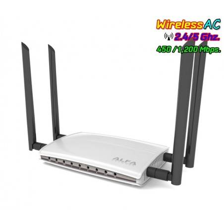 ALFA AC1200R Wireless Broadband Router 2.4/5GHz มาตรฐาน ac ความเร็วสูงสุด 1200Mbps Port Gigabit