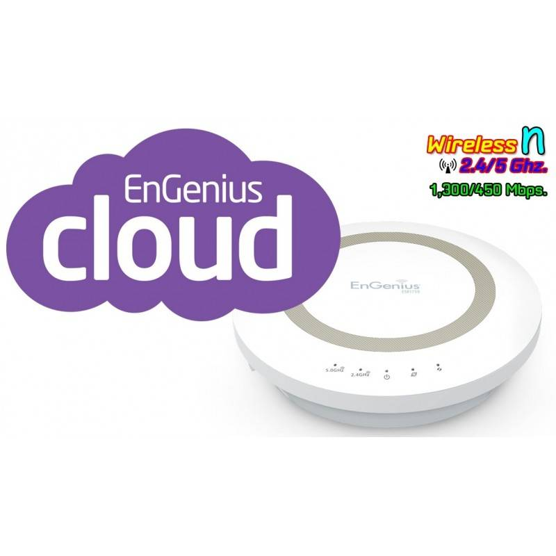 EnGenius Engenius (เอ็นจีเนียส) Engenius ESR1750 Wireless Router มาตรฐาน ac ความเร็วสูงสุด 1300Mbps Dual-Band 2.4/5GHz รองรับ...