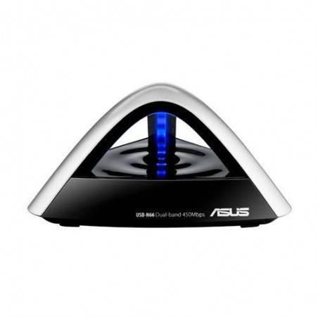 ASUS USB-N66 Wireless USB Adapter แบบ 2 ย่านความถี่ Dual-Band 2.4/5 GHz ความเร็วสูงสุด 450Mbps
