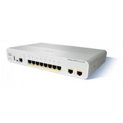 Cisco Catalyst 2960C compact switches WS-C2960CG-8TC-L 8 Port Gigabit, 2 x Dual Uplink, LAN Base Cisco (ซิสโก้)