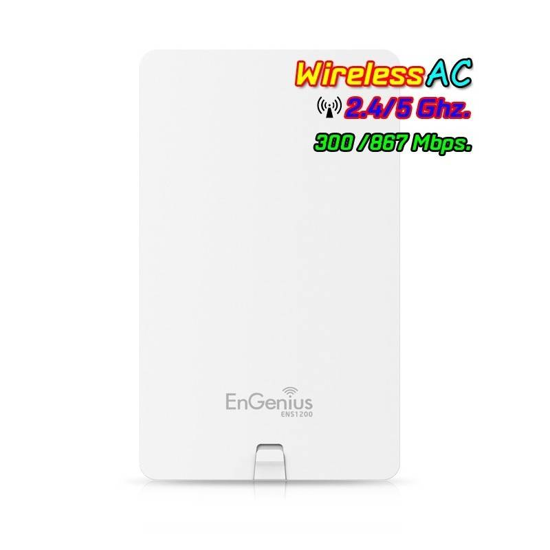 Engenius ENS1200 Accees Point แบบ Dualband 2.4/5GHz มาตรฐาน AC ความเร็วสูงสุด 866Mbps Wireless AccessPoint (กระจายสัญญาณ WIFI)