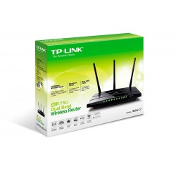 TP-Link Archer C7 AC1750 Wireless Broadband Router แบบ Dual-band 2.4/5GHz มาตรฐาน AC ความเร็วสูงสุด 1300Mbps Port Gigabit
