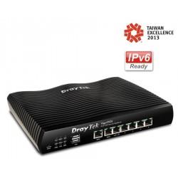 DrayTek Vigor2925 Dual WAN Load-balance VPN Router รวม Internet 2 คู่สาย VPN 50 Tunnels, 3G USBx2