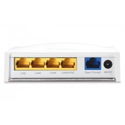 EnGenius EWS500AP Wall Plate Access Point 2.4 ความเร็ว 300Mbps, Lan 5 Port รองรับการจ่ายไฟ POE Wireless AccessPoint (กระจายสั...