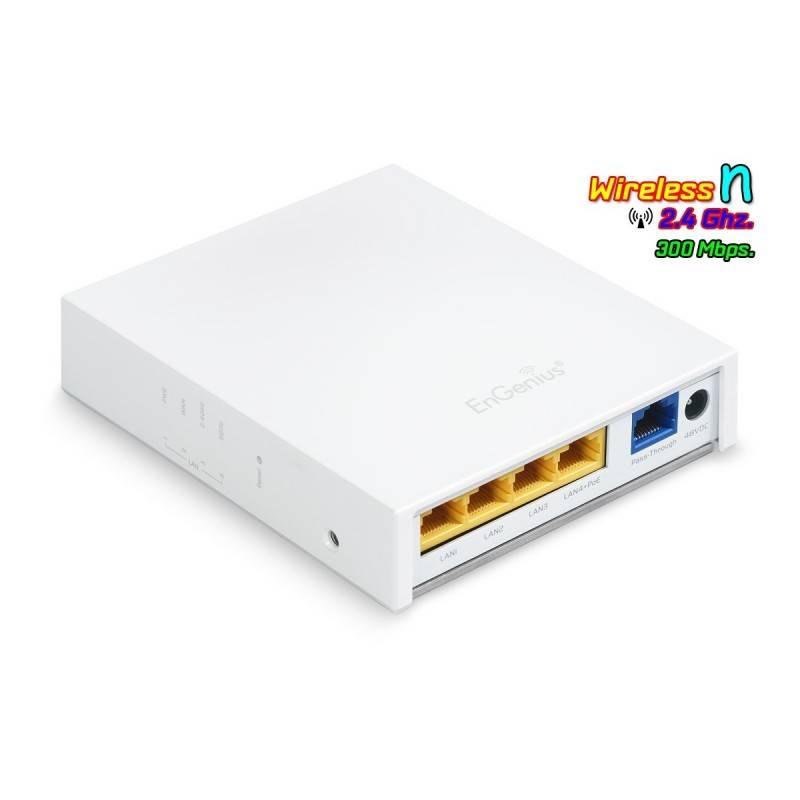 EnGenius Engenius (เอ็นจีเนียส) EnGenius EWS500AP Wall Plate Access Point 2.4 ความเร็ว 300Mbps, Lan 5 Port รองรับการจ่ายไฟ POE