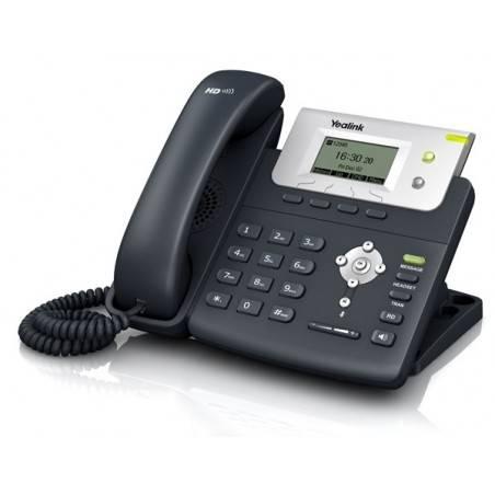 Yealink SIP-T21P-E2 โทรศัพท์แบบ IP (IP-Phone) จอ LCD 132x64 รองรับ 2 SIP Account, HD Voice พร้อม Adapter รองรับ POE